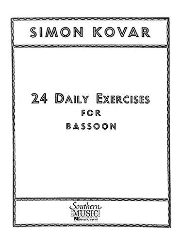 24 Twenty Four Daily Exercises For Bassoon