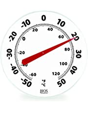 Thermor/Bios 12-Inch Dial Thermometer Black & White
