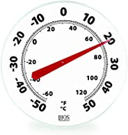 Thermor/Bios 12-Inch Dial Thermometer Black & W