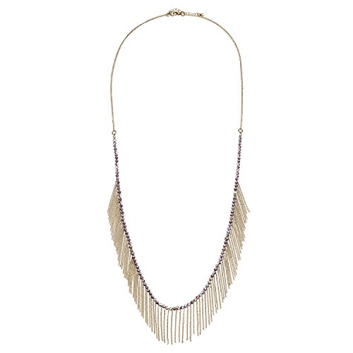 D EXCEED Womens Bohemian Thin Beads Chain Tassel Necklace, 19