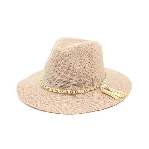 Playa Khaki Ovesuxle Al Verano Paja Sombrero Libre Con Flecos color Aire Mujer El Para Naked Sol Pink De xvxqw1rZ