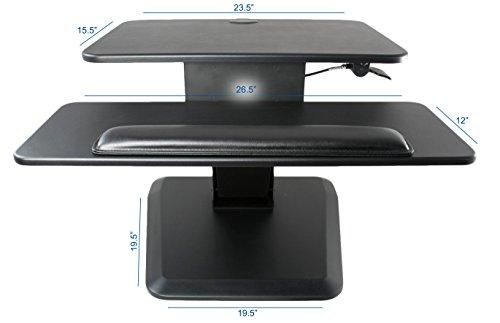 Vivo Black Height Adjustable Standing Desk Gas Spring