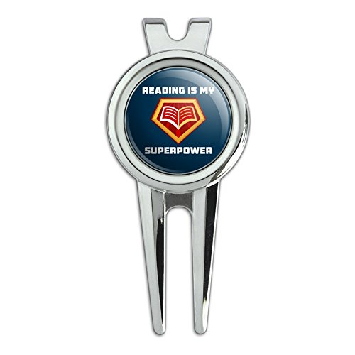 Reading Is My Superpower Golf Divot Repair Tool and Ball Mar