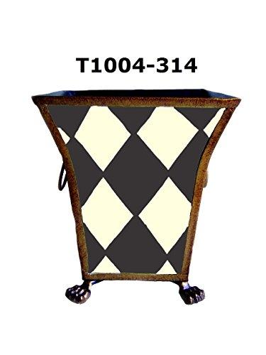 Hand Painted Wastebasket - 12