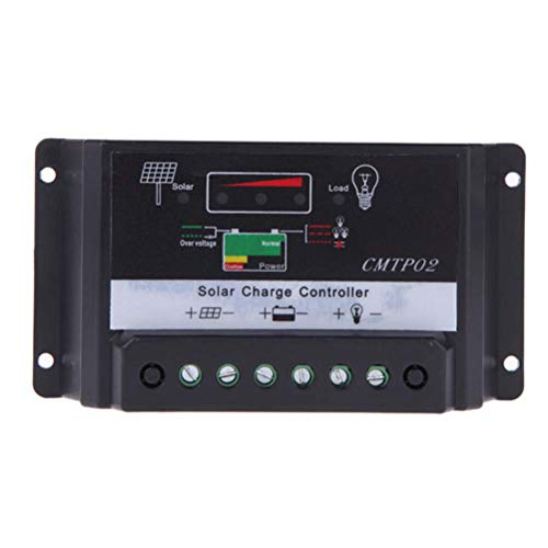 Hemobllo 10A Regulador Inteligente de la Carga del Panel Solar Regulador Inteligente 12V / 24V sin batería