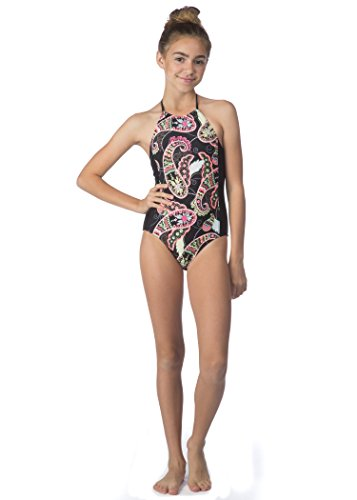 Hobie Big Girls' Part Your Swirl One Piece Swimsuit -  Hobie Girls 7-16