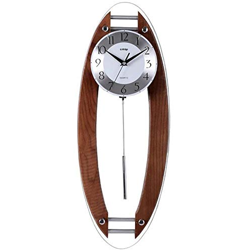 Wooden Wall Clocks, Bedroom Living Room Study Silent Wall Clock for Kitchen Bathroom Rectangle Creative Clock