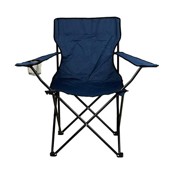 41XhNs%2BhqwL Nexos 2-er Set Angelstuhl Anglerstuhl Faltstuhl Campingstuhl Klappstuhl mit Armlehne und Getränkehalter praktisch robust…