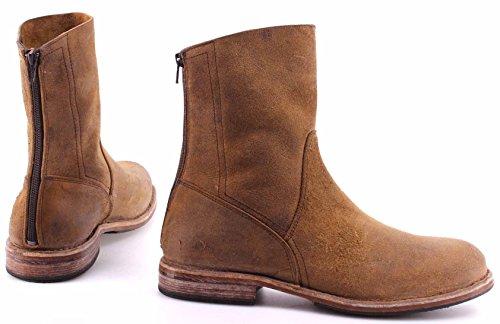 MOMA Teak Stiefeletten Zip Back Pelle Schuhe 59601 Waxy Y2 Herren Vintage Italy BqwBfxrT