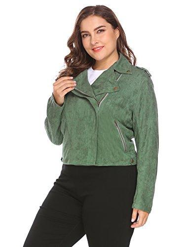 - Women's Faux Leather Moto Biker Short Coat Jacket
