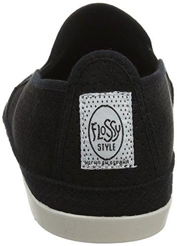 Giallo 001 black Flossy Black Uomo Vendaval Espadrillas qWcvFO