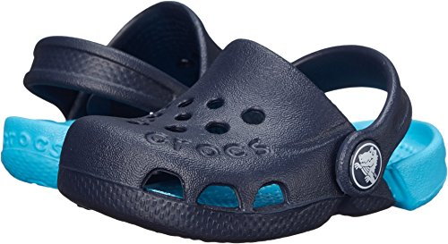 Crocs Electro Clog, Navy/Electric Blue, 12 M US Little Kid (Crocs Kids Clogs)