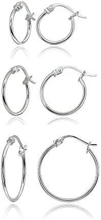 Sterling Polished Lightweight Click Top Earrings product image