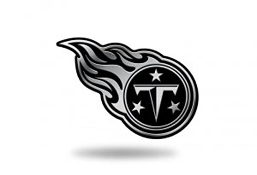 Rico Industries NFL Tennessee Titans Chrome Finished Auto Emblem 3D Sticker