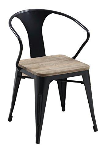 247SHOPATHOME IDF-3529BK-SC Alexandria Dining Chair -