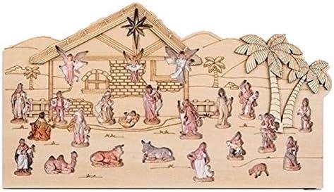 [해외]Fontanini 2019 Reusable Wood Nativity Scene Countdown Advent Calendar 14 Inch / Fontanini 2019 Reusable Wood Nativity Scene Countdown Advent Calendar, 14 Inch