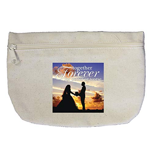 A Married Couple Together Forever For Better Or Worse Cotton Canvas Makeup Bag by Style In Print