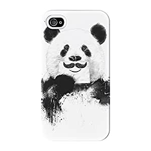 Funny Panda Full Wrap High Quality 3D Printed Case for iPhone 4 / 4s by Balazs Solti + FREE Crystal Clear Screen Protector