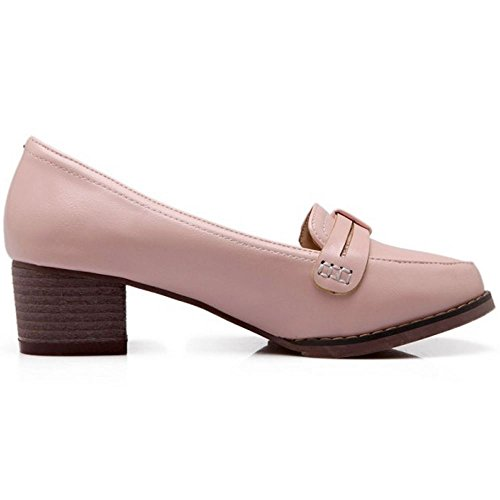 Brogue Zanpa Zapatos Mujer Clasico Pink AqTnZfAr