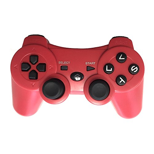 (Wireless Bluetooth Game Controller for PS3, Gamepads for PlayStation 3 (Red))