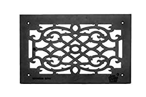 """Heat Air Grille Cast Victorian Overall 10"""" X 16""""   Renovator's Supply"""