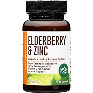 Whole Foods Market, Elderberry & Zinc Lozenges, 30 ct