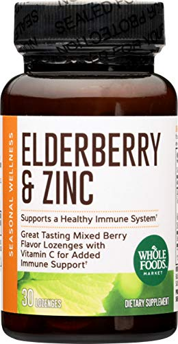 - Whole Foods Market, Elderberry & Zinc Lozenges, 30 ct