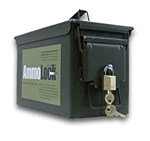 "Ammo Box with Lock (5 1/2"" x 7 1/8"" x 11.5"")"