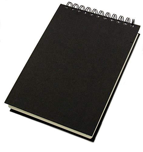 Schetsboek deco zwart 140g/m², DIN A5 hoog, 62 vellen