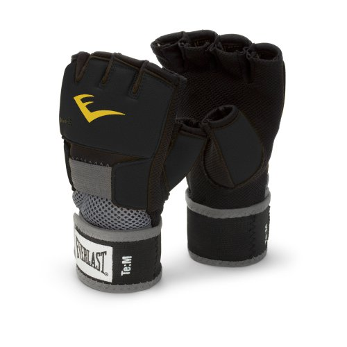 Everlast EverGel Hand Wraps (Black, ()