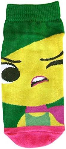 ディズニー キッズソックス インサイド・ヘッド子供靴下 ムカムカ グリーン・ピンク 13cm~18cm AWDS3496J