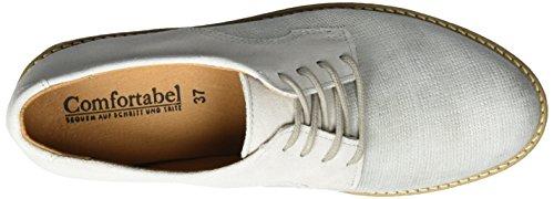 Comfortabel 950714, Zapatos de Cordones Brogue para Mujer plateado (plateado)