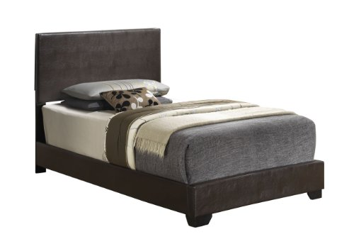 Cappuccino Headboard Leather Upholstered Platform product image
