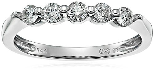 14k White Gold Five Stone - 5