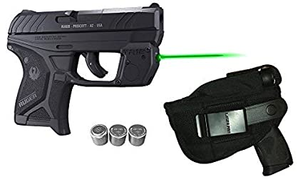 Laser Kit for Ruger LCP II (LCP 2) w/LASERPRO Holster, Touch-Activated  ArmaLaser TR12-G Green Laser Sight & 2 Extra Batteries