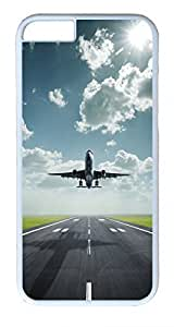 Amazing Lifting Off Airplane Custom iphone 6 plus 5.5inch Cases Cover Polycarbonate White by supermalls