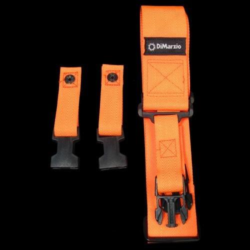 DiMarzio DD2200OR 2 Cliplock Nylon Guitar Strap - Neon Orange