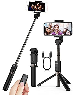Yoozon Selfie Stick, Extendable Selfie Stick with Wireless Remote and Tripod Stand Selfie Stick for iPhone X /iPhone 8 /8 Plus/iPhone 7/iPhone 7 Plus/Galaxy Note 8/S8 /S8 Plus/Google More