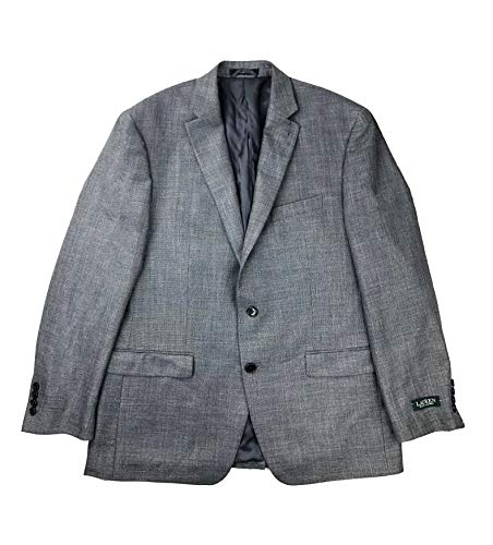 LAUREN RALPH LAUREN Men's Classic-Fit Neat UltraFlex Sport Coat (Grey, 43 Regular)