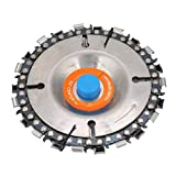 4' 22 Tooth Grinder Disc Chain Plate Woodworking Chain Wheel for 100/115mm Angle Grinder