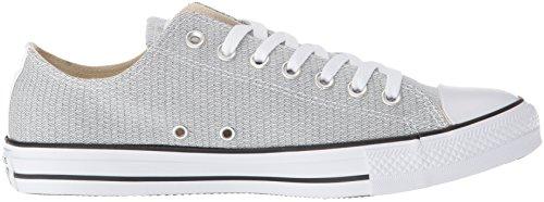 Converse Mens Chuck Taylor All Star Basketweave Lage Top Sneaker Wit / Zwart / Wit