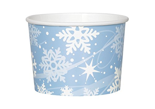 Holiday Snowflake Paper Cream Cups