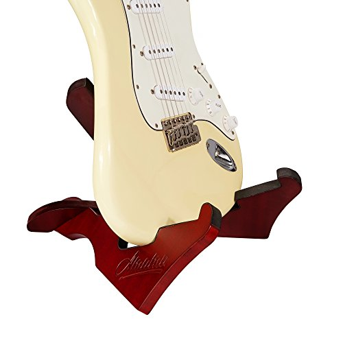 Amumu WGS-10 Wooden Guitar Stand Wood Musical Instrument Floor Portable Folding X Frame Stand for Acoustic, Classical, Electric, Bass Guitars by Amumu (Image #8)