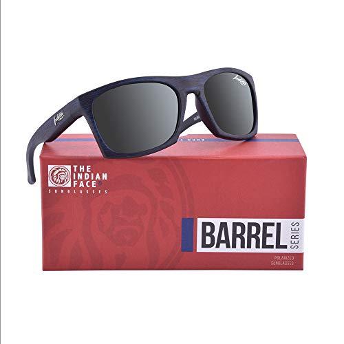 Wooden Barrel Gafas INDIAN THE de Unisex Sol 55 Blue FACE qIxRA