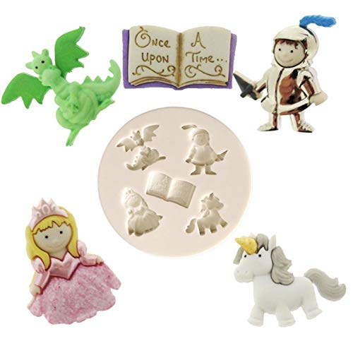 cake tools Knight book princess unicorn dinosaur prince fairytale castle silicone mold sugar craft fondant decorating mould tool