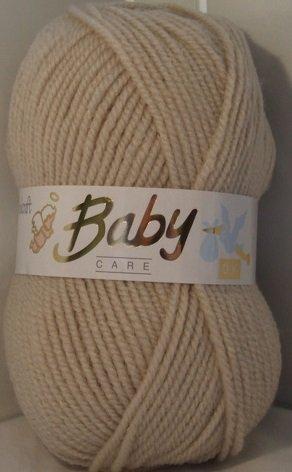 Woolcraft Babycare Baby Wool / Yarn 100g Balls, DK Double Knit (Beige) by Woolcraft