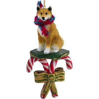 Amazon.com: SHIBA INU Dog CANDY CANE Japanese Dog Christmas Ornament ...