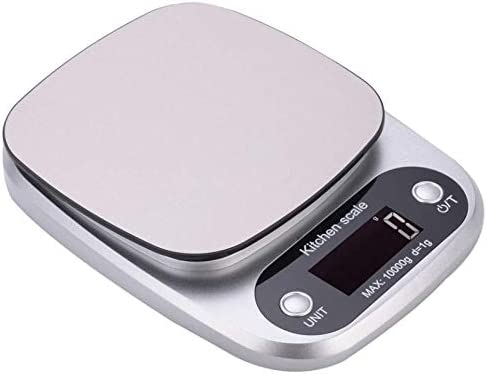 10kg 1g Stainless Steel Digital Kitchen Scale Food Weighing