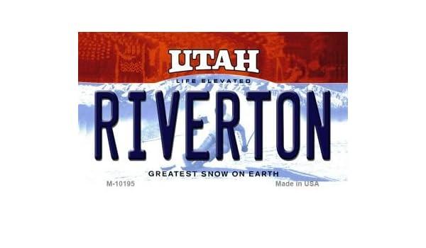 Amazon com : Riverton Utah State License Plate Magnet M-10195 Mini