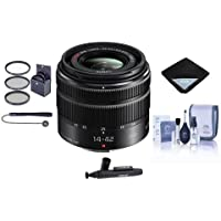 Panasonic Lumix G X Vario 14-42mm F/3.5-5.6 II Mega OIS Lens for Micro Four Thirds - Bundle With 46mm Filter Kit, Lens Wrap, Cleaning Kit, Capleash II, LensPen Lens Cleaner